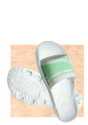 claquette sandale savate pvc femme vert anis lot de 6 paires. Black Bedroom Furniture Sets. Home Design Ideas